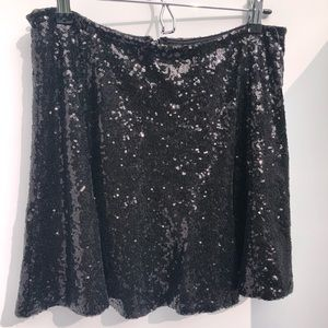 Guess black sequined mini skirt Women's med